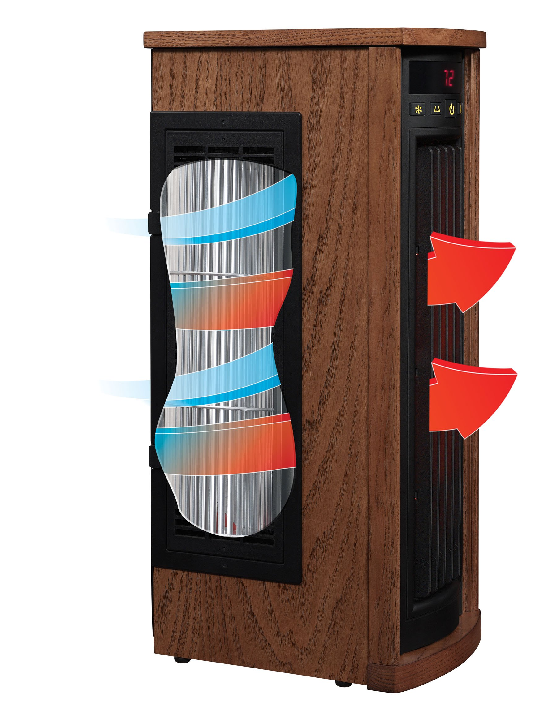 Duraflame 5HM8000-O142 Portable Electric Infrared Quartz Oscillating Tower Heater, Oak by Duraflame (Image #4)