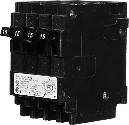 SIEMENS Q21515CT Double Two 15-Amp Single Pole Circuit Breaker, COLOR
