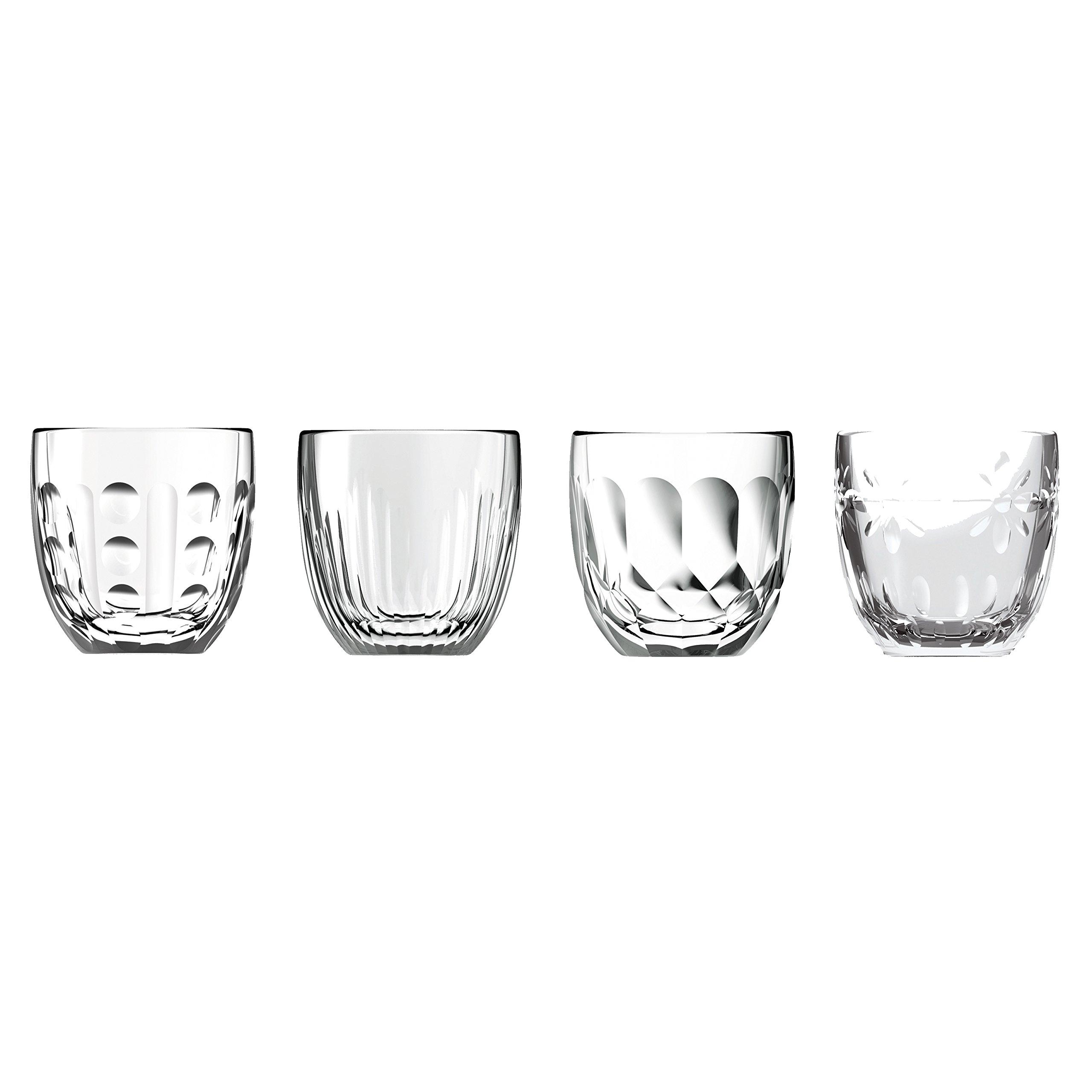 La Rochere 6380.01_481 Assorted Espresso Cups, 3.2 oz, Crystal