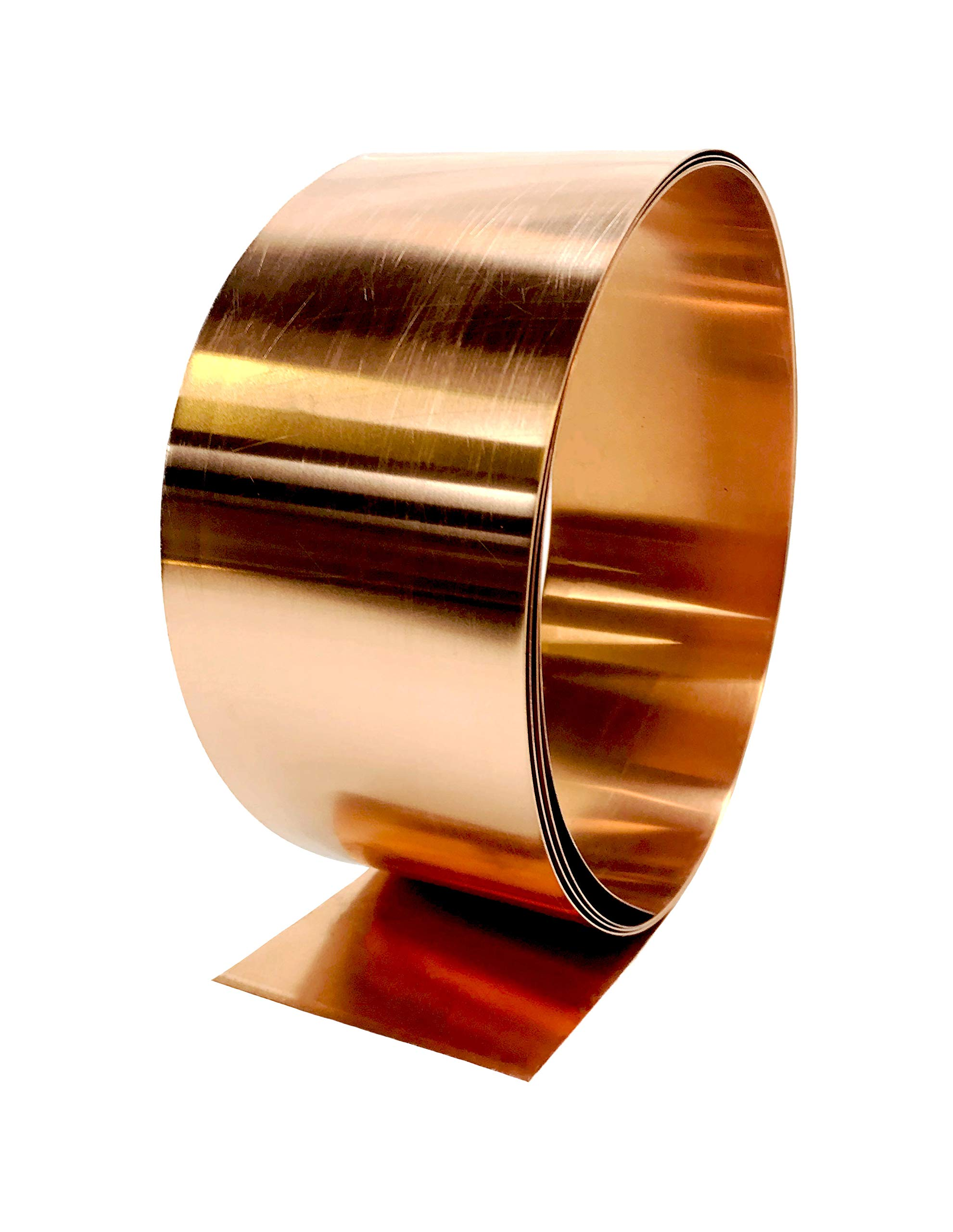 Copper Flashing - 16 oz 24 Gauge 10' Rolls in Various Widths for Roofing, DIY, or Contractor use-Lead Free Copper - can be Used with Pressure Treated Lumber (8'' Width) by Flashing Kings