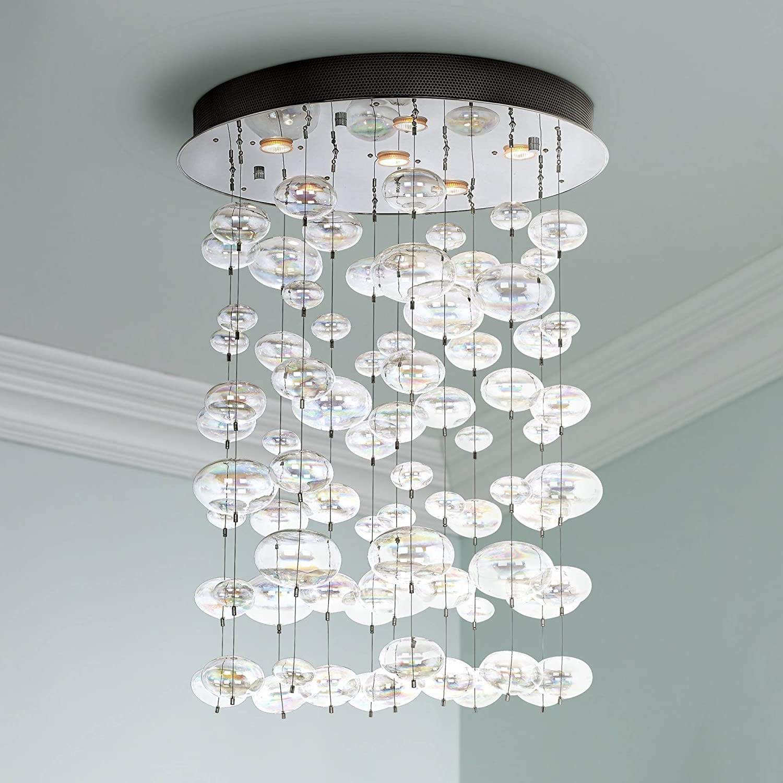 Possini euro floating bubble 6 light round ceiling fixture possini euro design