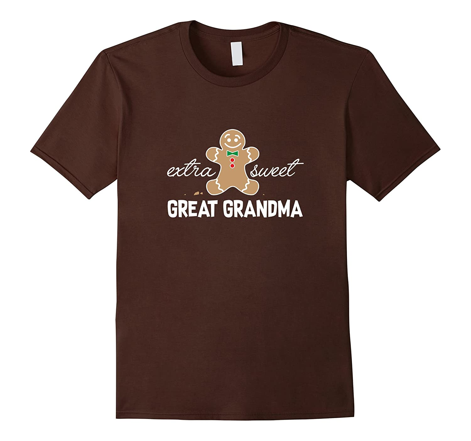 Extra Sweet Great Grandma T-Shirt_Cute Christmas Gingerbread-FL