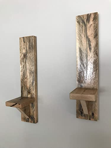 premium selection 7345c 16ac3 Amazon.com: Pair Rustic Recycled Pallet Wood Wall Sconce ...