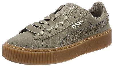f127246df33ebb Puma Damen Suede Platform Bubble WN s Sneaker Braun (Bungee Cord) 36 EU