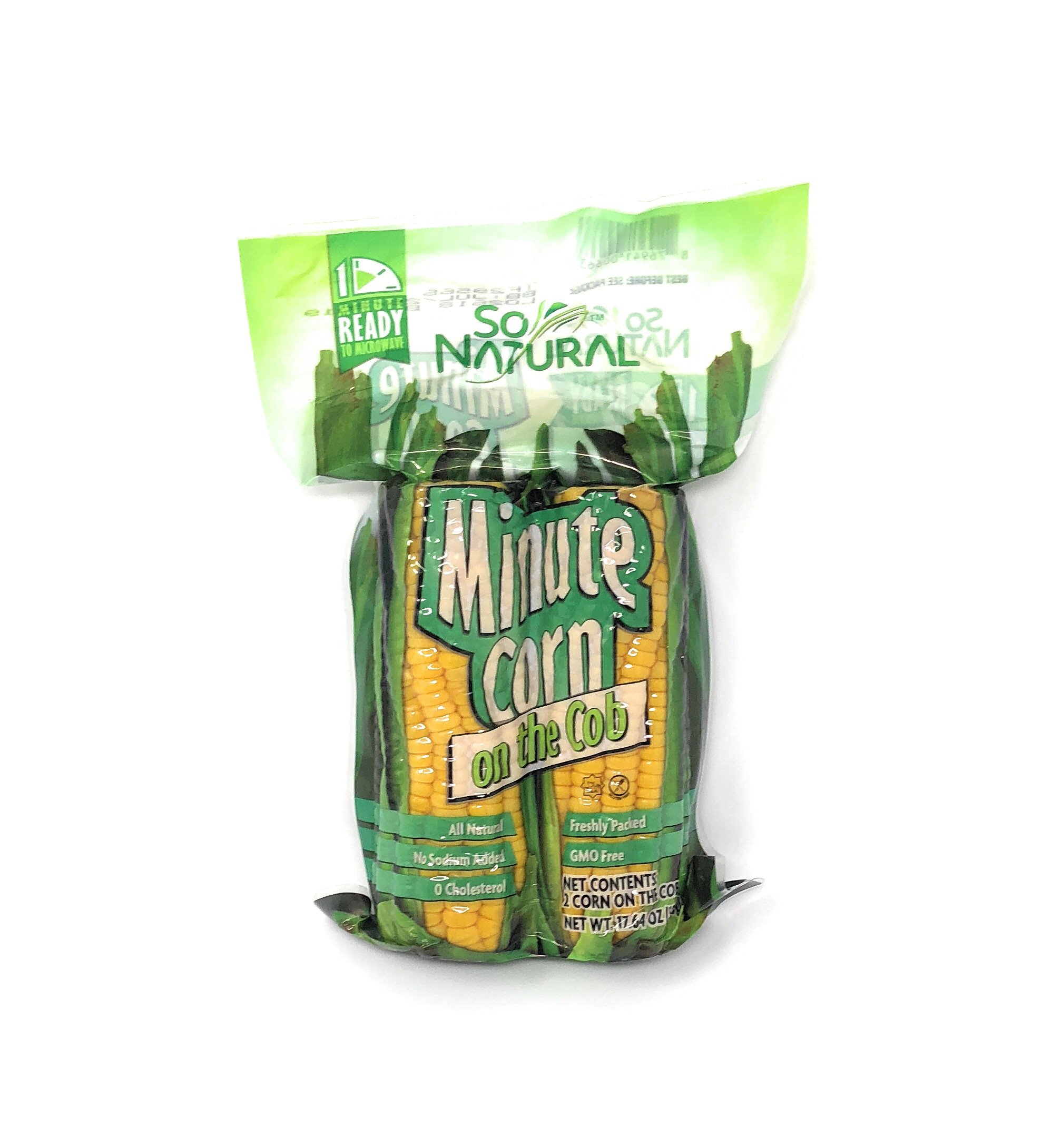 So Natural Minute Corn on the Cob, 2 Cobs Per Pack (Pack of 3)