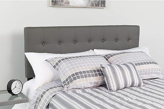 Flash Furniture Lennox Tufted Upholstered King Size Headboard in Black Vinyl
