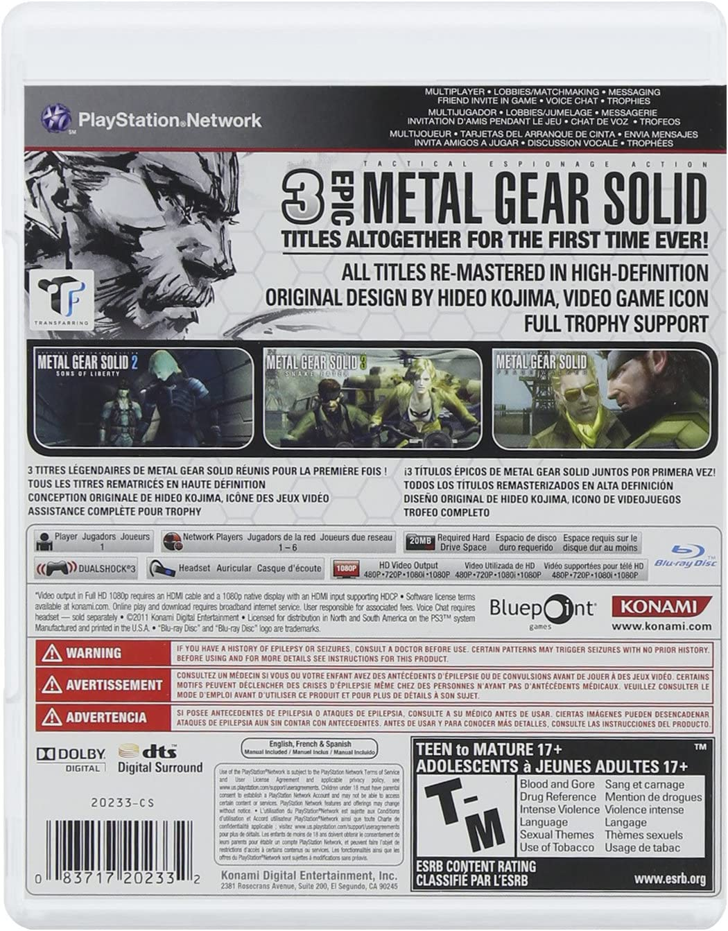 Amazon.com: Metal Gear Solid HD Collection: playstation vita ...