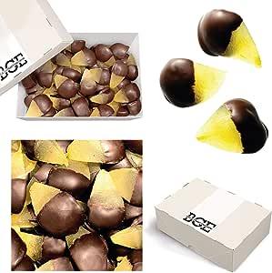 Bulk Gourmet Emporium - Peras confitadas bañadas en chocolate negro belga, producto vegetariano, halal y sin envase de plástico, 1 kg