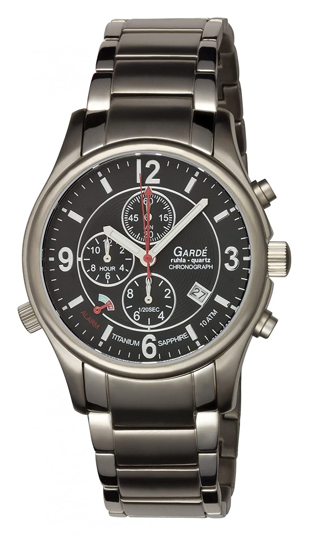 Garde Chrono-Alarm 91043 Titanium Herrenuhr mit Titanband