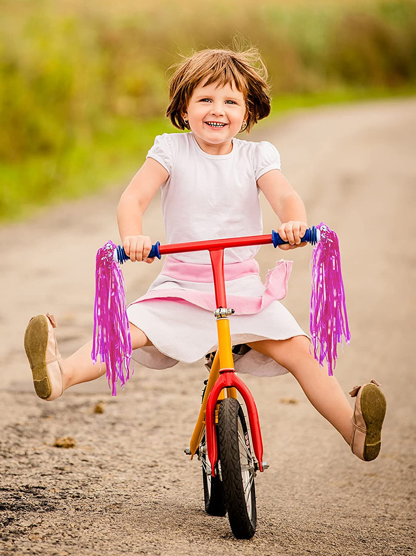 D DOLITY 2er Set Kinder M/ädchen Fahrrad-Quasten Lenkerfransen Streamer B/ändchen Kinderfahrrad Dekoration