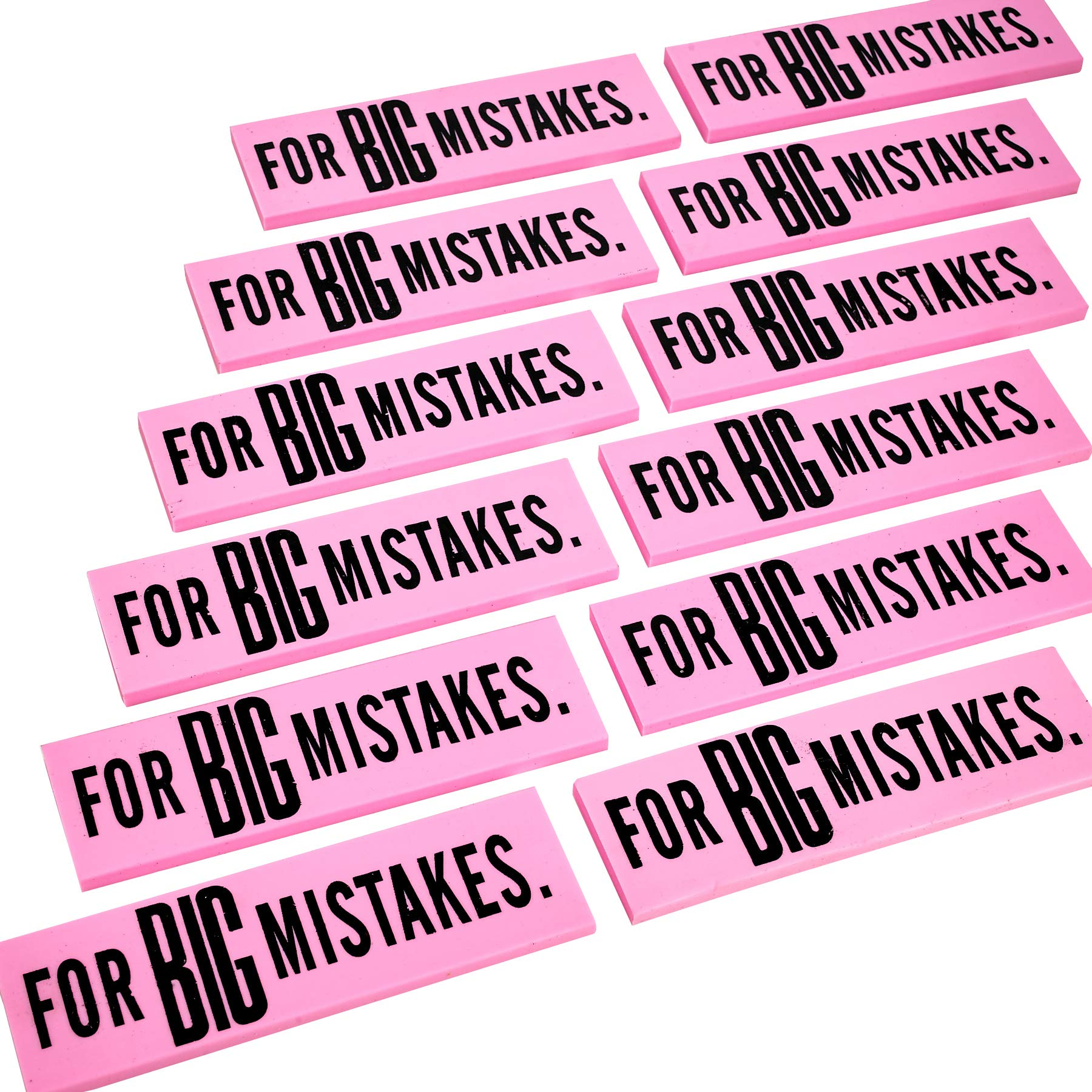 Big Mistake Eraser – 12 Pack Jumbo Eraser – Pencil Eraser School Supplies for Kids – Great for Children on Preschool, Elementary and Middle School by Kicko (Image #4)