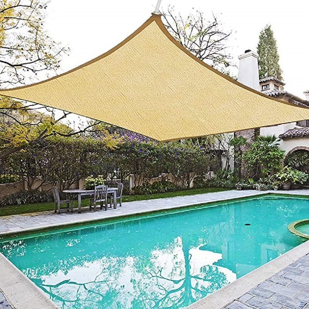 2.4 * 3,Cream Laxllent Sun Shade Sail Sun Protection Rectangle Awning Canopy 96.5/% UV Block Waterproof for Outdoor Garden Patio Party With Free Rope,