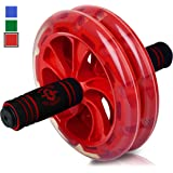 BIO Core Ab Roller - Fitness Wheel & Abdominal Carver To Workout, Exercise & Strengthen Your Abs & Core - Plus, Get A FREE Pro Knee Mat To Supplement Your Training For A Limited Time