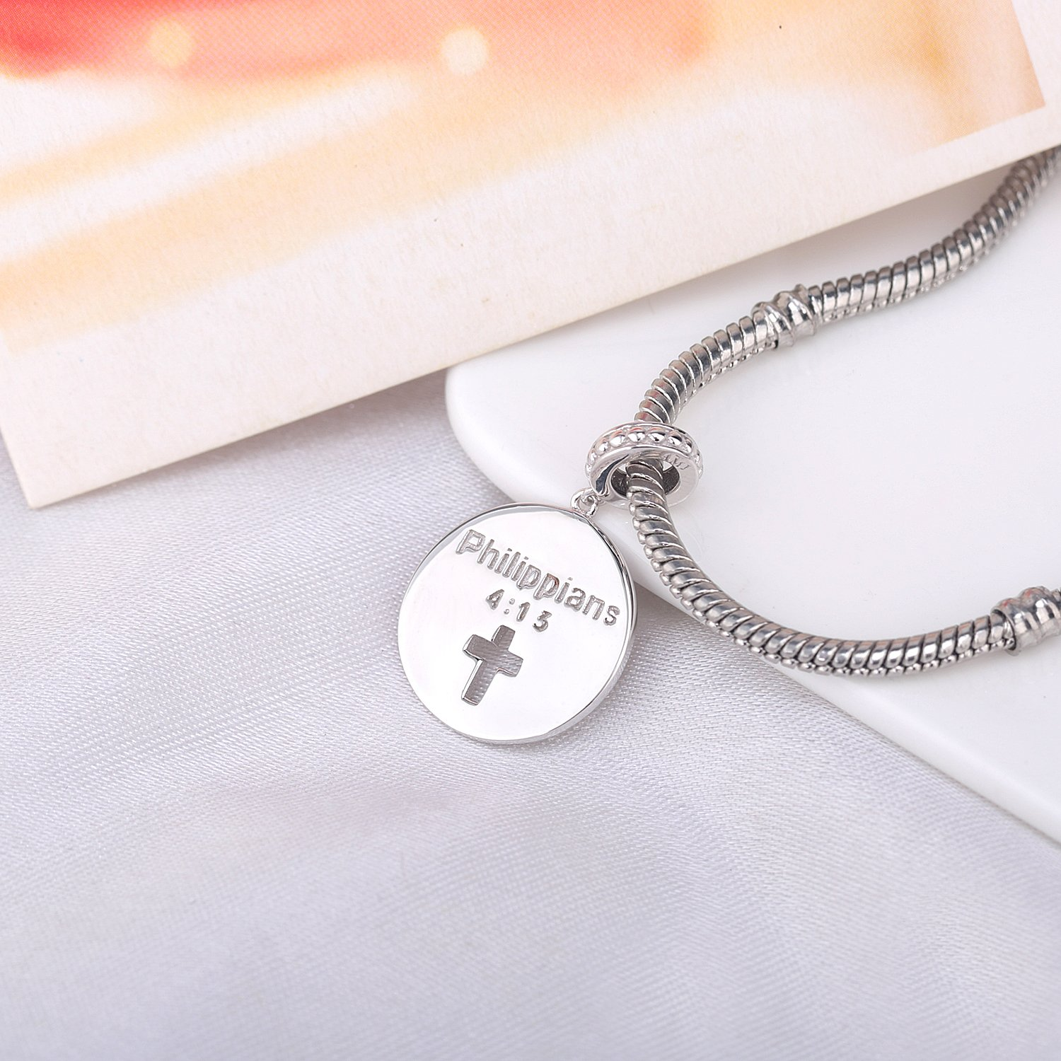 925-Sterling-Silver-Pendant-Necklace-I-Can-Do-all-Things-Through-Christ-who-Strengthen-Me-Religion-Jewelry-18-Chain