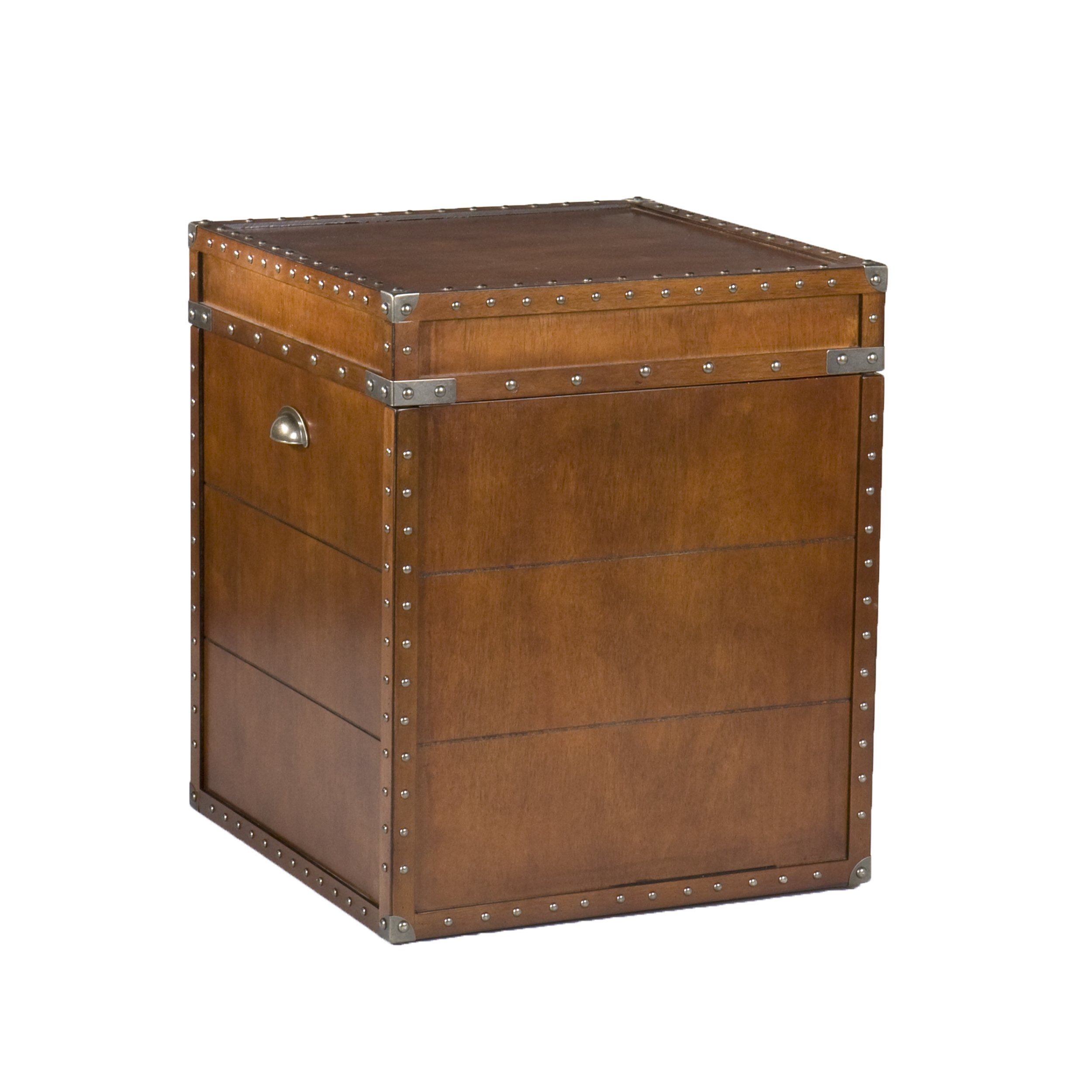 Southern Enterprises Steamer Trunk End Table - Rustic Nailhead Trim - Refinded Industrial Style by Southern Enterprises (Image #7)