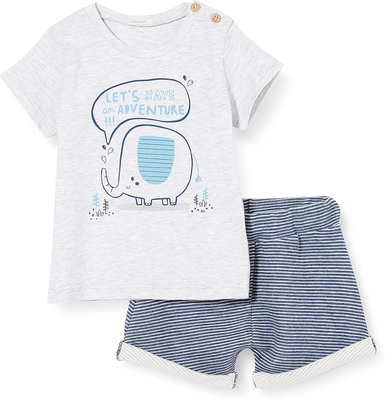 United Colors of Benetton Completo T-Shirt Bermuda Conjunto de Ropa para Bebés
