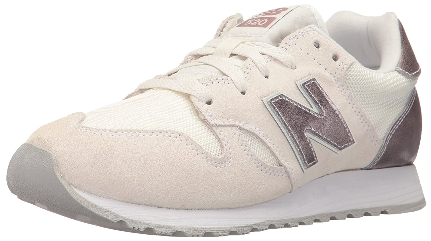 New Balance Women's 520v1 Sneaker B01MSOSSY0 13 B(M) US|Sea Salt/Champagne Metallic