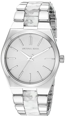 e60db0f131c4 Amazon.com  Michael Kors Women s MK6649 - Channing Silver White One Size   Watches