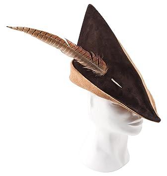 Fantashion K 73 – Pointed Leather Hat – Robin Hood Hat – Light Brown Dark  Brown  Amazon.ca  Toys   Games dcdaf9a5df2