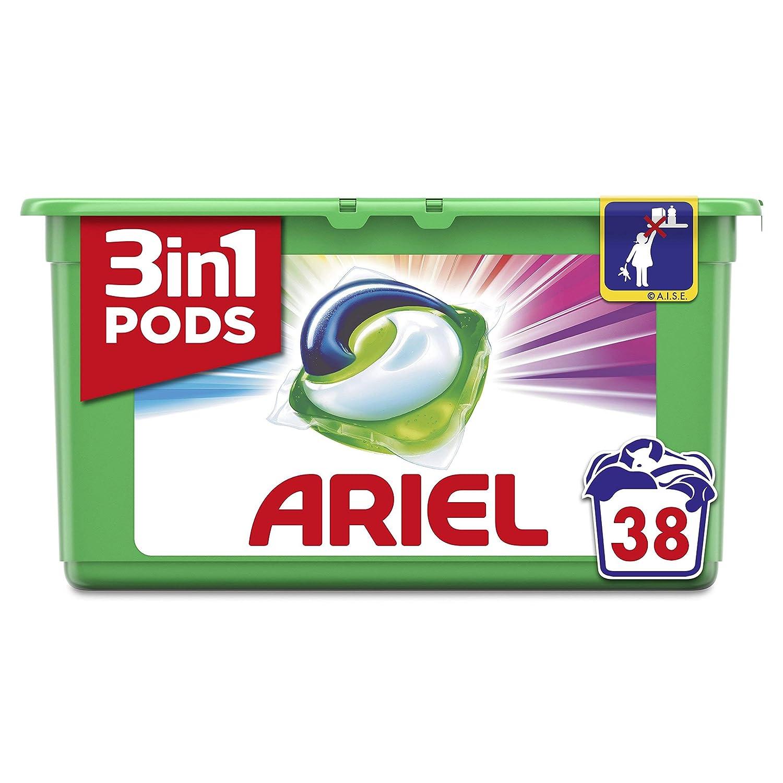 Ariel 3 en1 Pods Color y Style Detergente Cápsulas - 38Lavados