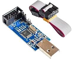 Organizer ATMEL 51 AVR ATMEGA8 Programmer USBasp USB ISP 10 Pin USB Programmer 3.3V/5V with Cable (1 Pack)