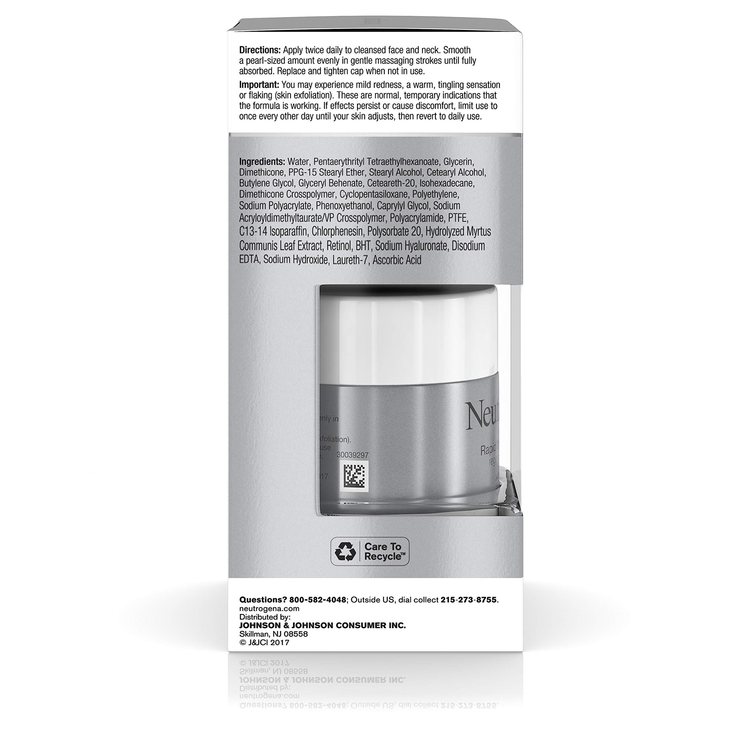 Neutrogena Rapid Wrinkle Repair Hyaluronic Acid Retinol Cream, Anti Wrinkle Cream, Face Moisturizer, Neck Cream & Dark Spot Remover for Face - Day & Night Cream with Hyaluronic Acid & Retinol, 1.7 oz by Neutrogena (Image #4)