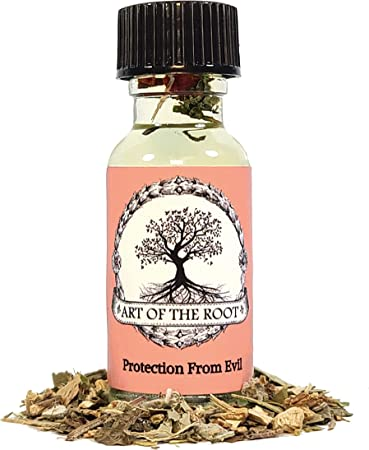 Protection from Evil Oil 1/2 oz for Negativity, Psychic Attacks & Evil Intentions Hoodoo Wicca Pagan Voodoo Conjure