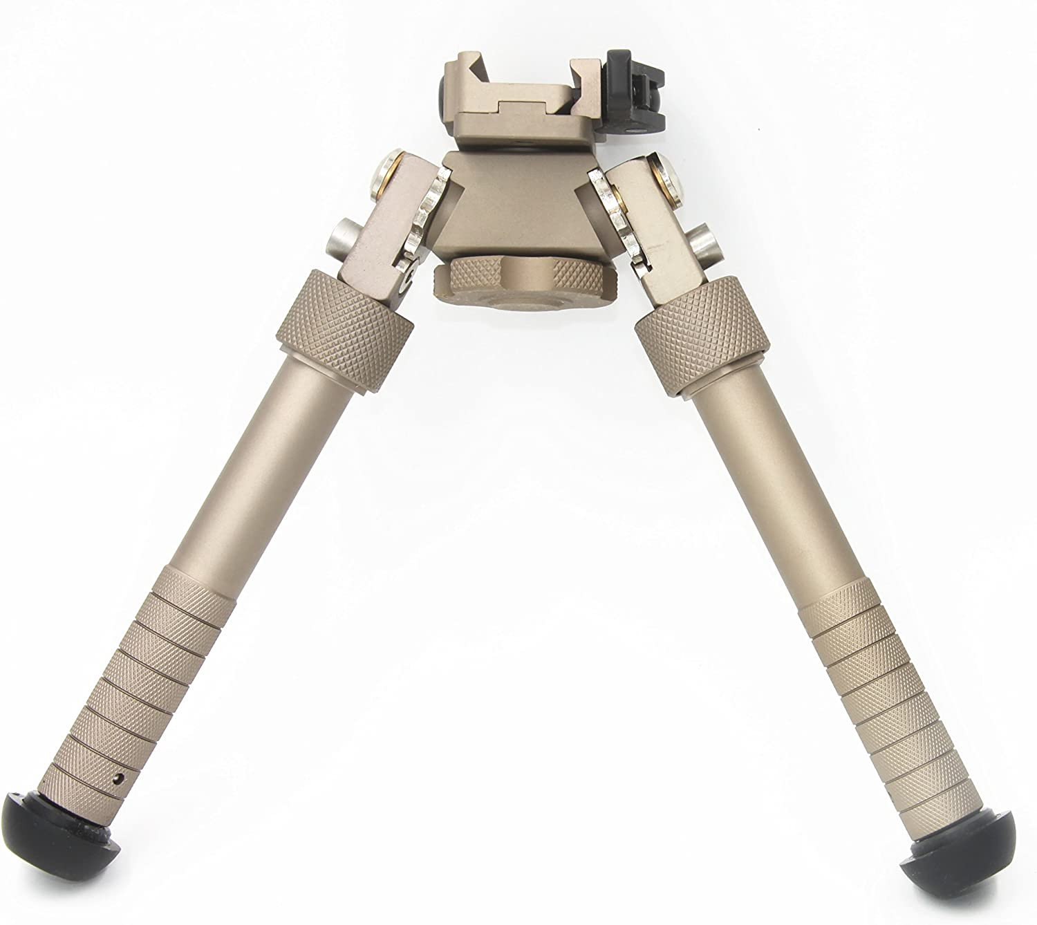 Photo of a JINSE Bipod Picatinny Rail tactical bipod in front of a white background.