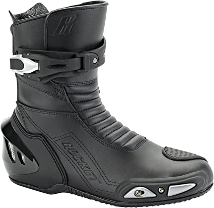 Joe Rocket SuperStreet Motorcycle Boot Black 8 Street Sport Touring Riding Race