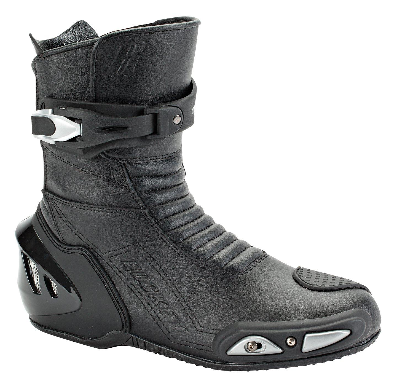 Joe Rocket Super Street RX14 Men's Leather Motorcycle Riding Boots (Black, Size 9.5)