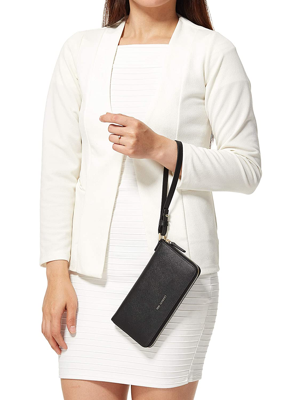 38f2e6970bd Cerruti 1881 Black Faux Leather For Women - Zip Around Wallets: Amazon.ae