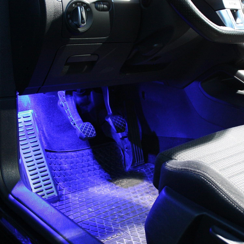 2X LED Module Fu/ßraumbeleuchtung blau wei/ß blau rot SMD Modul Fu/ßraum Set 1C