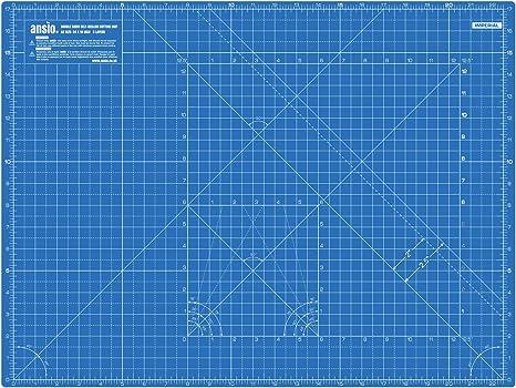 Girevole autoguarigione imperiale taglio Mat 13 pollici x 13 pollici-cielo blu