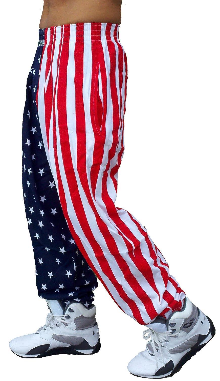 Best Form American Flag Pants (L, American Flag) F500FLAG