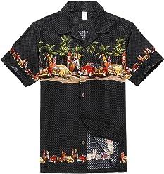 38d8b84a Palm Wave Men's Hawaiian Shirt Aloha Shirt Luau Shirt
