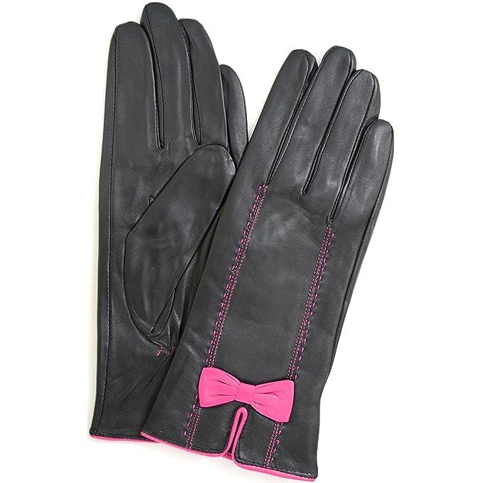 Traje de neopreno para mujer mantequilla suave Premium de piel en color negro guante de fucsia