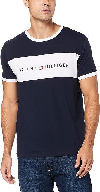 Tommy Hilfiger Cn SS tee Logo Flag Camisa para Hombre: Amazon.es: Ropa y accesorios