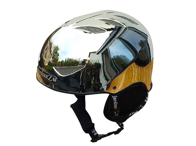 1 opinioni per Hardnutz casco da sci e snowboard–argento cromato, per adulti e bambini,