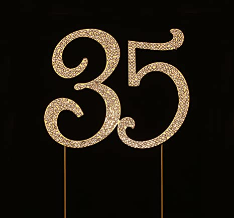 Number 35 For 35th Birthday Cake Topper Anniversary Party