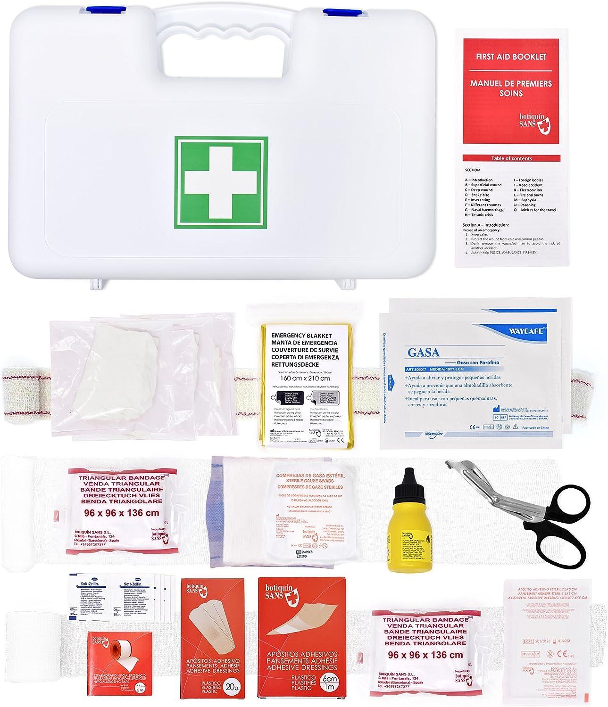 Botiquín de primeros auxilios según normativa Francesa (Hauturière - règlementation Division 240): Amazon.es: Deportes y aire libre