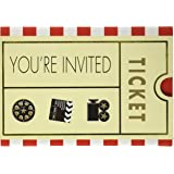movie ticket party invitation card 7 x 4