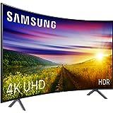 """Samsung 55NU7305 - Smart TV de 55"""" 4K UHD HDR (Pantalla Slim Curva, Quad-Core, 3 HDMI, 2 USB), Color Negro (Carbon Black)"""
