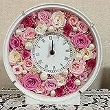 プリザーブドフラワー 時計 ギフト フォトフレーム ボックスアレンジ お祝い 新築祝い 結婚祝い 花時計 afc-017