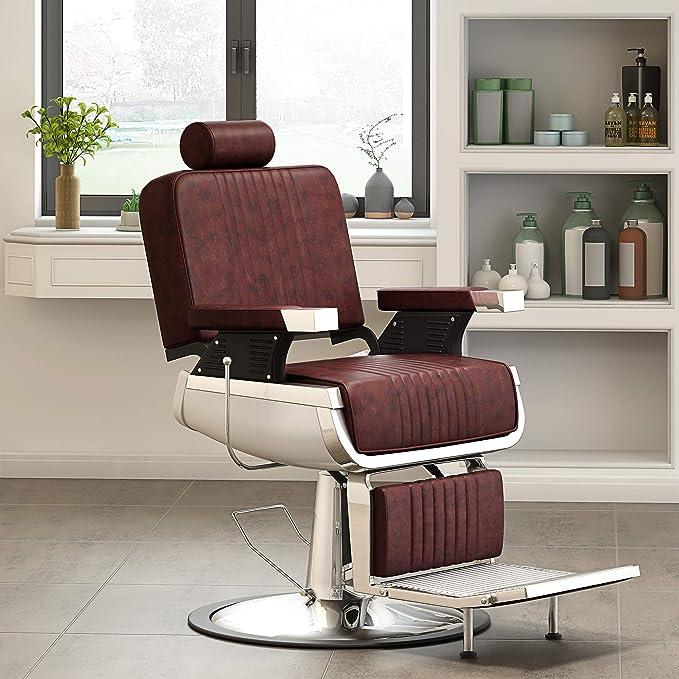 Yulie - Sillón de peluquería Profesional, Silla de barbero ...