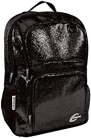 Amazon.com | Chassé Girls' Glitter Backpack - Black | Backpacks
