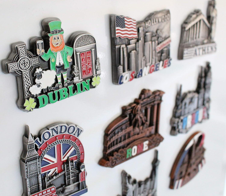 Stick Up Your Lists Photos on Refrigerator Dubai Metal Fridge Magnet Unique Design Home Kitchen Decorative Travel Holiday Souvenir Gift