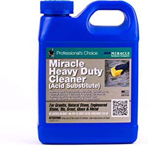 Miracle Sealants MHDCQT6 Miracle Heavy-Duty Acid Substitute Cleaner, Clear