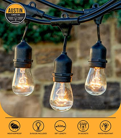 String Globe Lights Inspiration Amazon Austin Light Co Outdoor Commercial String Globe Lights
