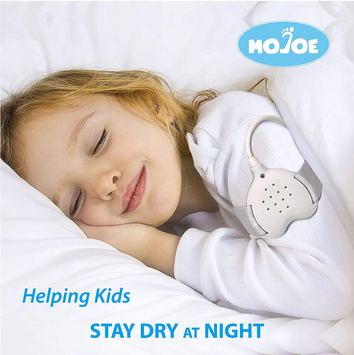 Bed wetting Alarm for Kids Girls  Boys and Adults Kit  3 in1 Rechargeable Enuresis Alarms Loud Sound