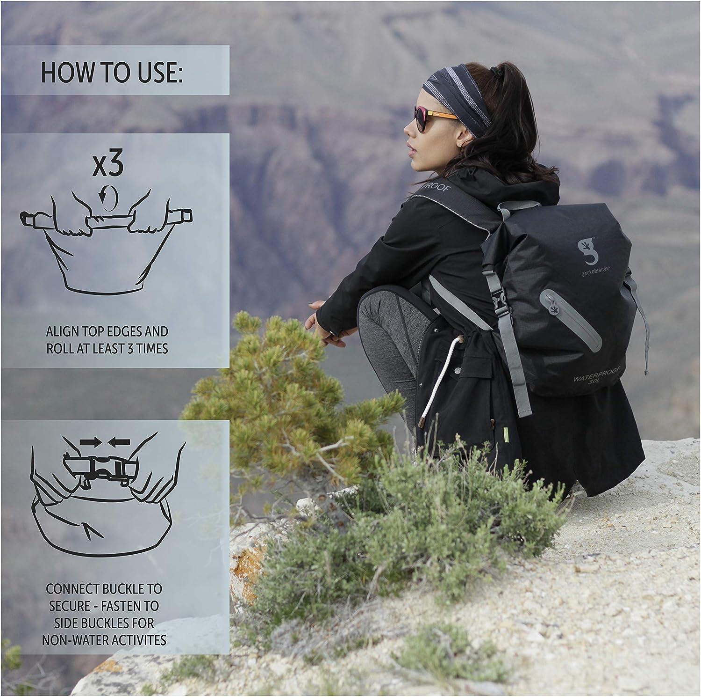 Ocean geckoflage geckobrands/Endeavor Waterproof Backpack Lightweight Waterproof Backpack